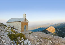 Old church in mountains at Biokovo, Croatia. Religion background Royalty Free Stock Image