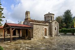 Old church in Myriokephala stock photo