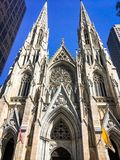 Old church in new york city stock image