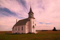 An old church in North Dakota Royalty Free Stock Photos