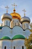 Old church in Novodevichy convent in Moscow. Stock Photo