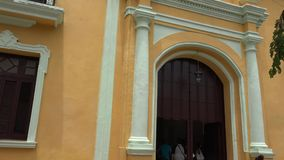 Old Church, now a Revolution Museum in Trinidad,Cuba stock video footage