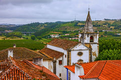 Old church in Obidos, Portugal Royalty Free Stock Images
