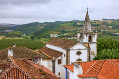 Old church in Obidos, Portugal Stock Photo