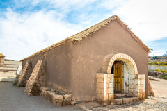 Old Church Of Socaire Village - Atacama Desert, Chile Royalty Free Stock Images