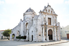 Old church in old part of  Havana. Royalty Free Stock Photos