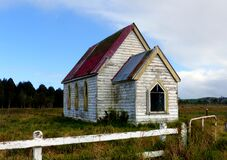 Old church, Otuhianga Road, Matakohe, NZ Royalty Free Stock Photo