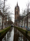 Old Church (Oude Kerk), Delft, The Netherlands Royalty Free Stock Photography