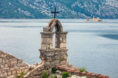 The old church overlooking the sea in bad weather Royalty Free Stock Photo