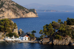 Old church on Panagia island in Parga Royalty Free Stock Photography