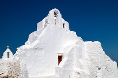 Old church of Panagia Paraportiani at Mykonos island , Greece Royalty Free Stock Image