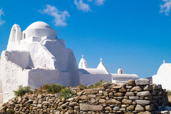 Old church of Panagia Paraportiani at Mykonos island Stock Photo