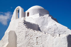 Old church of Panagia Paraportiani at Mykonos island Stock Image