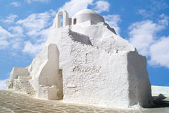 Old church of Panagia Paraportiani at Mykonos island Royalty Free Stock Photography
