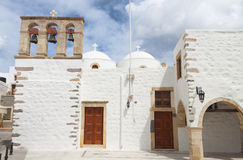 Old church at Patmos island in Greece. Stock Image