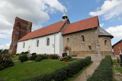 Old Church of Pellworm in Schleswig Hollstein Royalty Free Stock Photography