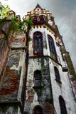 Old church in perspective Royalty Free Stock Photos