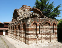 Old church on the place in Nessebar. Royalty Free Stock Photo