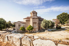 Old church, Plaka district, Athens, Greece. Beautiful old church in Plaka district, Athens, Greece Royalty Free Stock Image