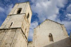 Old church in polignano a mare Stock Image