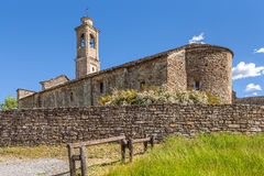 Old church in Prunetto, Italy. Stock Image