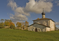 Old Church in Pskov. Orthodox Church of Kozma and Damian Royalty Free Stock Photos