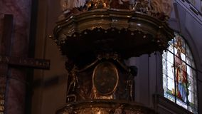 Old Church Pulpit stock video
