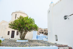 Old church in Pyrgos village. Royalty Free Stock Photography