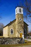 Old Church Rectory. Small , old, early-19th century stone country church royalty free stock photography