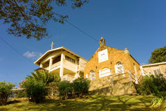 An old church and rectory in the caribbean Royalty Free Stock Photo