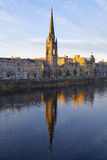 Old church on the river Tay embankment in Perth, Scotland Royalty Free Stock Image