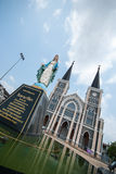 Old church of Roman Catholic Christianity in chantaburi province Stock Photo