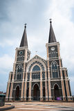 Old church of Roman Catholic Christianity in chantaburi province Stock Photos