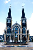Old church of Roman Catholic Christianity in Thailand. Stock Photography