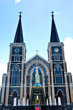 Old church of Roman Catholic Christianity in Thailand. Stock Images