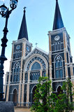 Old church of Roman Catholic Christianity in Thailand. Stock Photos