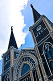 Old church of Roman Catholic Christianity in Thailand. Royalty Free Stock Photos