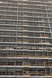 Old church in Rome. Old church with scaffold texture effect in roma Stock Photos