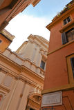 Old church in Rome. Near Campo dè Fiori in wide view Royalty Free Stock Photo