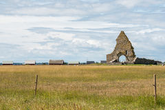 Old church ruin on Baltic sea island Öland, Sweden Royalty Free Stock Photo