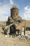 Old church ruins. Ruins of the ancient armenian church at Ani in Turkey Stock Photography