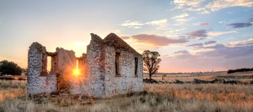 Old church ruins. Old ruins of St Mary's at sunset Stock Image