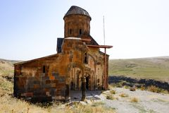 Old church in the ruins of Ani, Turkey royalty free stock images