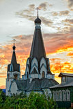 Old church in russian village Royalty Free Stock Photo
