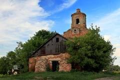 Old church in the Russian village Stock Image
