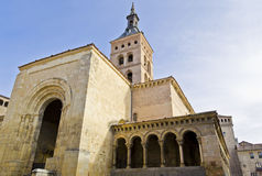 Old church of Saint Martin in Segovia - Spain. One of the several churches in the old village of Segovia in Spain Stock Photography