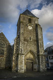 Old church of saint vallery sur somme france. Historic church of Saint Vallery sur Somme, Picardie, France royalty free stock photo
