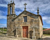 Old church of Sanfins de Ferreira stock photos