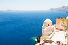 Old church on Santorini island, Greece. Stock Image
