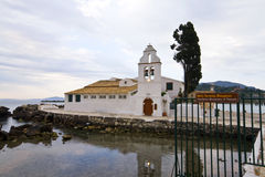 Old church by the sea in Greece. Old church by the sea at Corfu island, Greece Royalty Free Stock Image